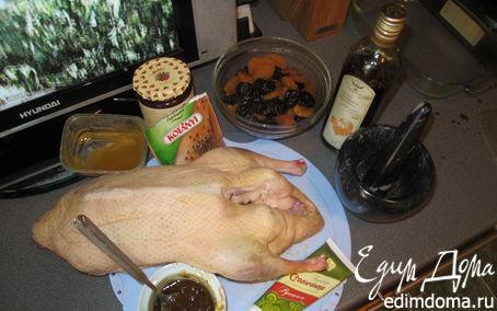 Рецепт Праздничная утка с сухофруктами