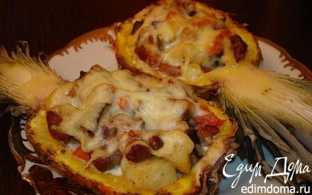 Рецепт запечёные ананасы
