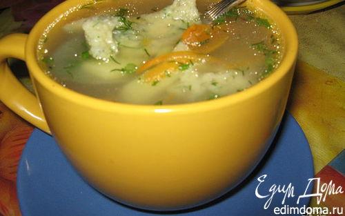 Рецепт Куриный суп с галушками