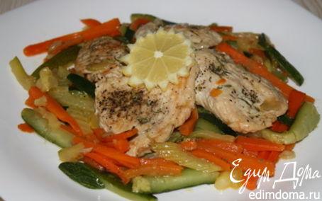 Рецепт Весенняя индейка с овощной пиккатой