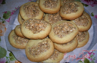 Рецепт Песочное печенье с ореховой начинкой