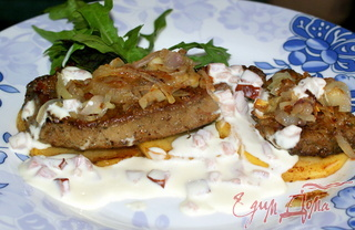 Рецепт Печень телячья под сливочным соусом