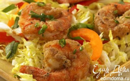 Рецепт Креветки по-китайски Stir fry