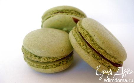 Рецепт Макаруны с чаем матча и шоколадным кремом