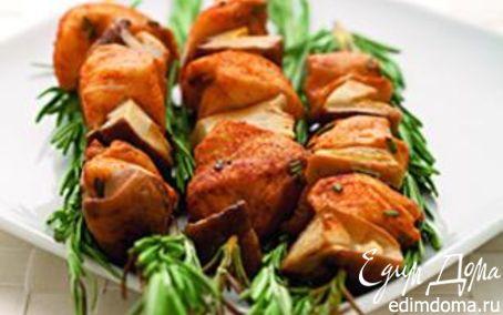 Рецепт Шашлычки из белых грибов и курицы