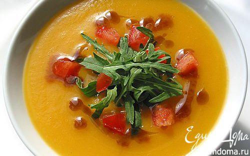 Рецепт Тыквенный суп с помидорами и чесноком