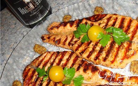 Рецепт Семга в маринаде, приготовленная на мангале