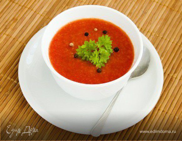 Гаспачо из томатов и огурцов