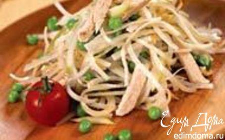 Рецепт Салат из редьки с курицей