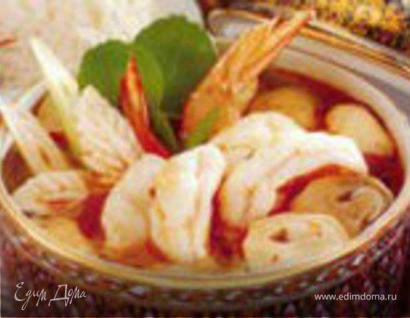 Полинезийский креветочный суп