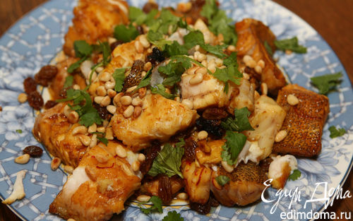 Рецепт Рыба с шафраном и кедровыми орешками