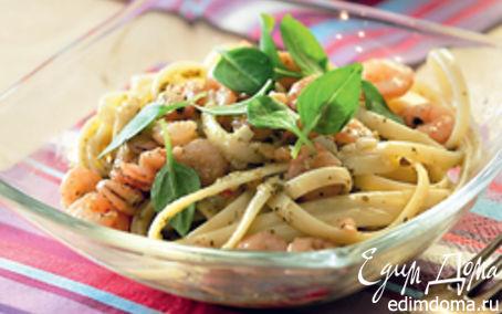 Рецепт Паста с креветками и песто
