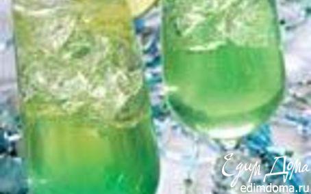 Рецепт Бирюзовое шампанское