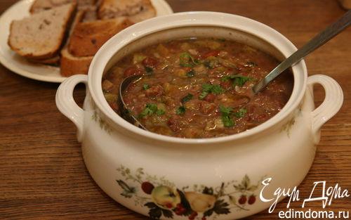 Рецепт Суп из фасоли с кабачками