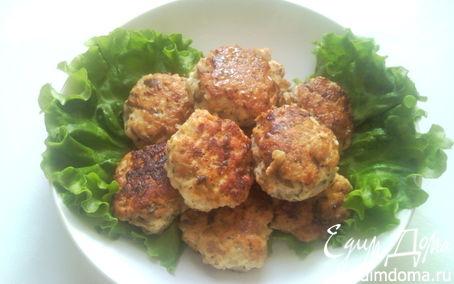 Рецепт Куриные котлеты с грибами и зеленым базиликом