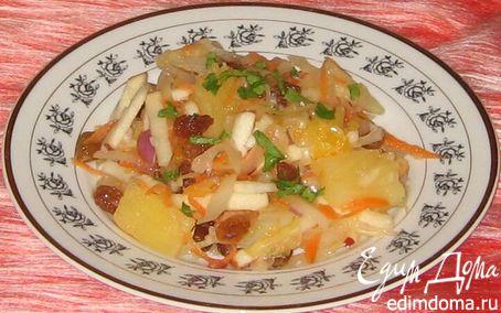 Рецепт Салат с квашеной капустой