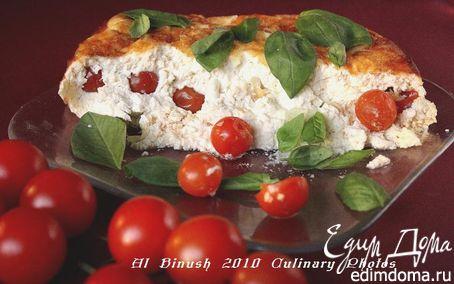 Рецепт Творожный пудинг с помидорами