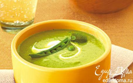 Рецепт Суп-пюре из зеленого горошка с мятой
