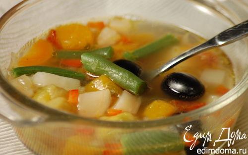 Рецепт Овощной суп с тыквой и брюссельской капустой