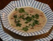 Суп из белой фасоли со сморчками