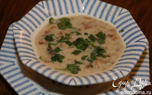 Рецепт Суп из белой фасоли со сморчками