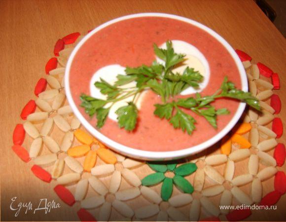 Суп-пюре овощной с тыквой и яблоками