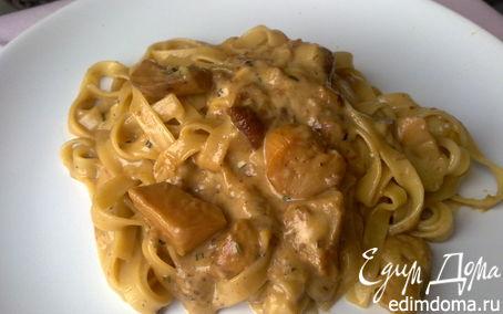 Рецепт Фетучини с белыми грибами
