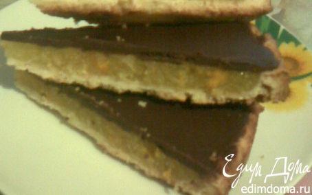 Рецепт Шоколадный тарт с апельсиновым желе