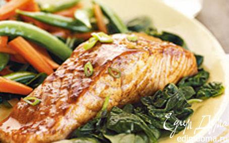 Рецепт Лосось с овощами