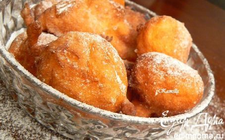 Рецепт Fritelle di Ricotta e Rhum или пончики с творогом