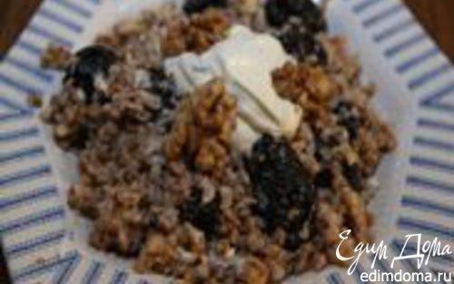 Рецепт Гречка с грецкими орехами и черносливом