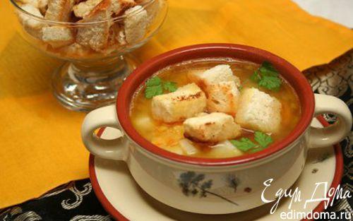 Рецепт Гороховый суп с копченостями и гренками