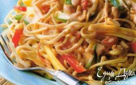 Рецепт Китайский салат с лапшой и манго