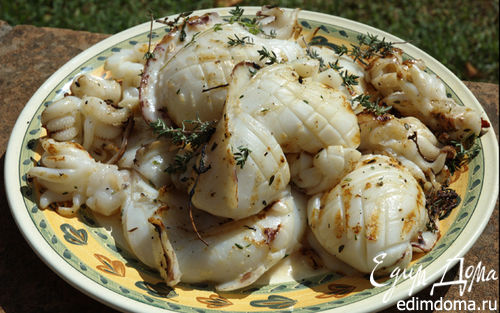 Рецепт Кальмары на гриле