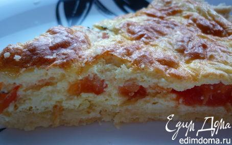 Рецепт Пирог-суфле с помидорами