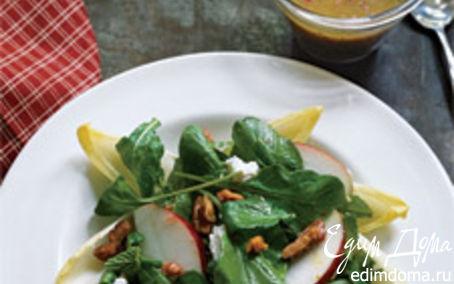 """Рецепт Салат """"Красивая кожа"""" из руколы, эндива и яблока"""