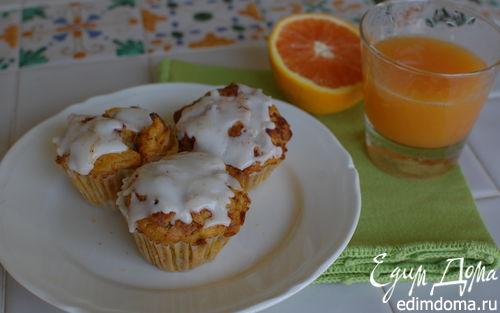 Рецепт Морковные кексы с апельсином и грецкими орехами