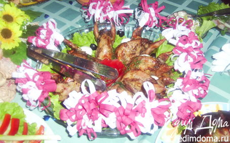 Рецепт Запеченные перепела с овощами