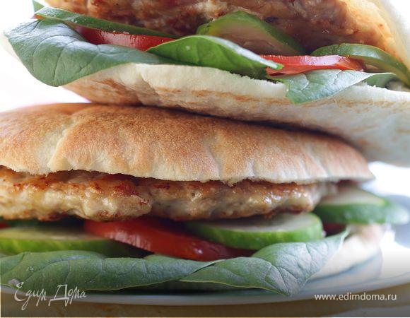 Домашний гамбургер с куриной котлеткой