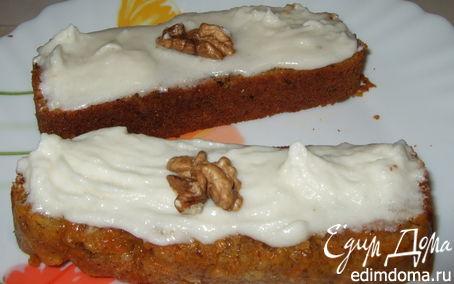 Рецепт Морковный кекс с творожным кремом
