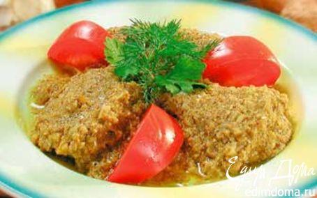 Рецепт Зубатка с орехово-чесночным соусом