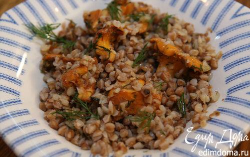 Рецепт Гречка с грибами, луком и укропом