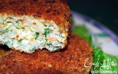 Рецепт Биточки из рыбы с зеленью