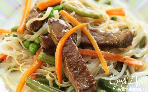 Рецепт Мясо с овощами в воке