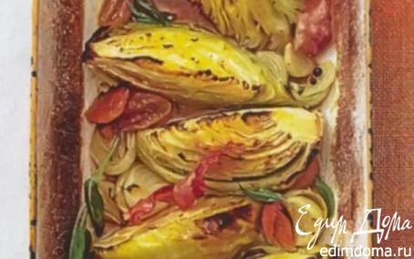 Рецепт Капуста, запеченная дольками