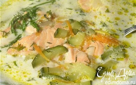 Рецепт Калифорнийский суп с семгой