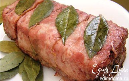 Рецепт Террин из свинины, говядины и ветчины