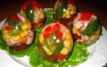 Рецепт Заливное в яичной скорлупе