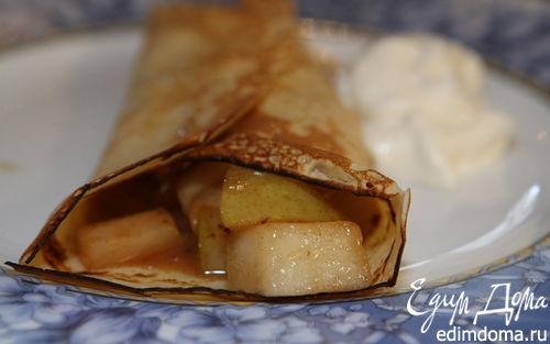 Рецепт Блины с пряными грушами и медом