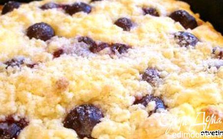Рецепт Открытый пирог с вишней